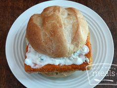 Crispy Buffalo Tofu Sandwich recipe - Once a Month Meals - Dinner