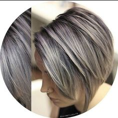 Winter is coming! By @hairbyjaelyn of @spacesalon  #michaellevinesalons #spacesalon #vancouverhair #hairbrained #hairstylist #hairnerdlove #caramelsalon #vancouverhairacademy #productforhair #americansalon #canadianhairstylist #graduatedbob Bob Hairstyles 2018, Stacked Bob Hairstyles, Medium Bob Hairstyles, Trending Hairstyles, Straight Hairstyles, Cool Hairstyles, Bobs Rubios, Short Hair Cuts, Short Hair Styles