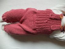 Latzhose Strampler 50/56 Merinowolle Pumphose Baby