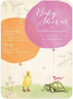 Storybook Friends Baby Shower Invitations from Tiny Prints.