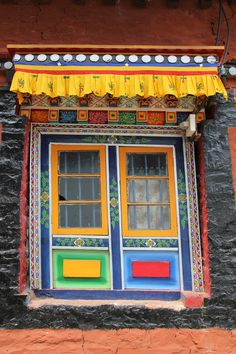 Colorful Monastery Window