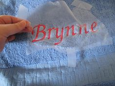 A Girl In Paradise: Machine Embroidery - Towels