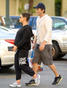 Pregnant Mila Kunis opted for comfy sweats on a recent outing with fiance Ashton Kutcher -- see a picture of the cute couple