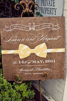 Love the bow tie!  Photography by katiedayphoto.com, Event Design by finishingtoucheventdesign.net