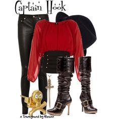 """Disneybounding Captain Hook"" by callmemasian on Polyvore. follow her fashion blog at http://styledbymasian.tumblr.com!"