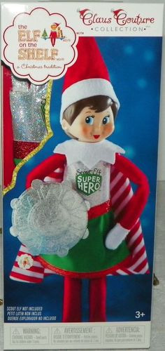 ARCTIC SKI SET THE ELF ON THE SHELF CLAUS COUTURE COLLECTION JACKET SCARF NEW