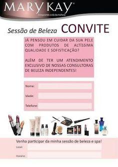 Convite MK Mary Kay Brasil, Mary Kay Ash, Salon Names, Beauty Logo, Beauty Hacks Video, Cupons, Spanish, Banner, App