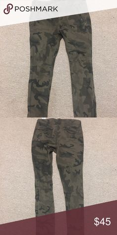 Too small! Love these ...😢 Zara camouflage pants size 8 skinny jeans. Fits really slender. Closer to a slim 6. Won't fit over my hips properly. Zara Pants Skinny