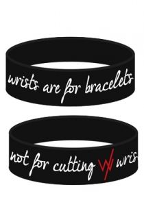 Wrists Are For Bracelets (Black) Accessory - Sleeping With Sirens Accessories - Official Online Store on District Lines