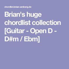 Brian's huge chordlist collection [Guitar - Open D - D#m / Ebm]