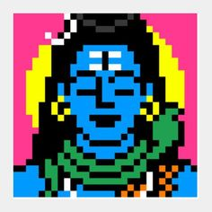 Shiva pixel Art print - 199/-