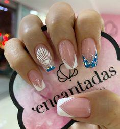 Bridal Nails, Nail Decorations, Cool Nail Art, Nail Arts, White Nails, Beauty Nails, Fun Nails, Acrylic Nails, Nail Designs