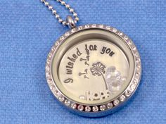 I Wished for You Glass Charm Locket Floating by FarmGirlJewelry, $40.00 + $3 Shipping