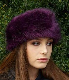 6e2932cb98bfa Purple Faux Fur Headband / Neckwarmer / Earwarmer Handmade in Lancashire  England