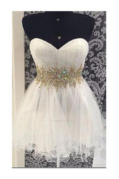 133e67c11 Customized Luscious Homecoming Dress 2019, Homecoming Dress White,  Homecoming Dress A-Line