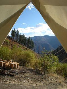 I love these pictures... they are the best... Looking out the Tent Flaps - Frank Church Wilderness of No Return - Idaho