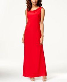 R & M Richards Sleeveless Cowl-Neck Dress | macys.com