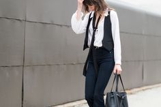 I'm feeling this look! - The Best Street Style at New York Fashion Week  - ELLE.com