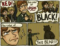 The bear is so confused XD Theatre Geek, Broadway Theatre, Musical Theatre, Theatre Jokes, Theater, Les Mis Funny, Fandoms, Phantom Of The Opera, Nerdy