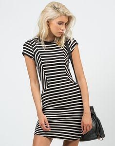 Contrast Striped Dress – Dresses – 2020AVE