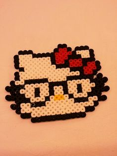 Hello Kitty hama perler beads by Love Cupcoonka - www.facebook.com/hamabeadshobby