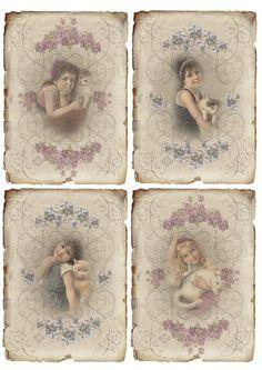 Vintage Meisjes Janet K Papel Vintage, Floral Vintage, Vintage Tags, Vintage Labels, Vintage Ephemera, Vintage Paper, Vintage Postcards, Vintage Prints, Vintage Stuff