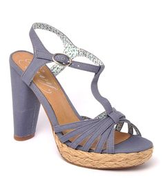 Take a look at the Blue Be Easy T-Strap Sandal on #zulily today!