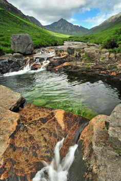 The blue pool, Isle of Arran, firth of Clyde, Scotland. By Rachel Slater