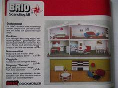 Annons på Tradera: RETRO,Annons i Kalle Anka 1971 om bla Arne Jacobsen-s möbler till dockhus,Brio