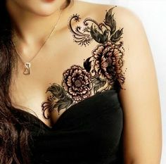 flower-breast-tattoo-design.png (498×492)