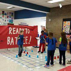 Human Battleship | Bridget W 2008 5th Grade Classroom, Classroom Games, 5th Grade Math, Middle School Geography, Kids Klub, Math Night, Youth Games, Primary Maths, School Events