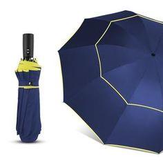 54ebe31604a6a 120CM Fully-Automatic Double Big Umbrella Rain Women 3Folding Wind  Resistant Large Umbrella Men Travel