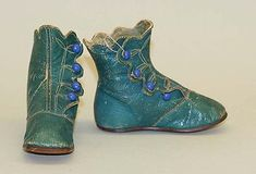 Leather Baby Boots ca. 1880, American