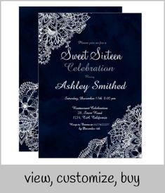 Shop Navy blue watercolor winter floral Sweet 16 Invitation created by girly_trend. Sweet 16 Invitations, Custom Invitations, Birthday Invitations, Bohemian Theme, Boho, Sweet Sixteen Themes, Birthday Text, Sixteenth Birthday, Watercolor Background