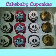Nightmare Before Christmas Mocha Toffee cupcakes #cakebabycupcakes #cupcakes #custom #Atlanta #Delivery