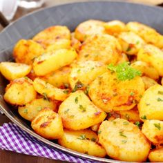 A Delicious recipe for crispy pan fries baby potatoes. This dish makes a great side to a chicken and salad meal.