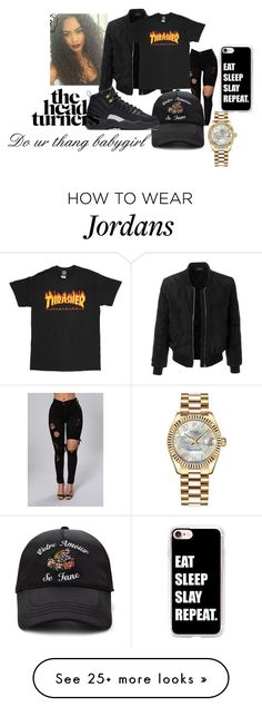 """""""Untitled #63"""" by bxbysnoop on Polyvore featuring LE3NO, Forever 21, NIKE, Casetify and Rolex"""