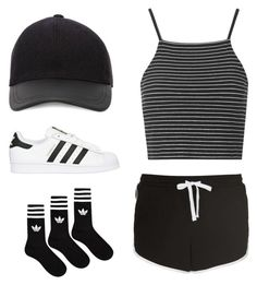 """adidas"" by matildemelendrez ❤ liked on Polyvore"