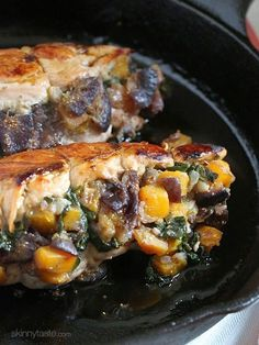 Stuffed Turkey Breasts with Butternut Squash and Figs is a wonderful One-Pan Fall dish. This is also Whole30 compliant as well as gluten-free, low-carb, keto and Paleo. Turkey tenderloins are stuffed with sauteed butternut squash, spinach and figs, a meal-in-one with savory and sweet flavors.