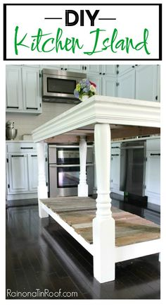 DIY Kitchen Island with salvaged wood – Diy Furniture Ideas Diy Kitchen Island, Kitchen Redo, Kitchen Design, Rustic Kitchen, Kitchen Ideas, Kitchen Craft, Narrow Kitchen, Smart Kitchen, Kitchen Storage
