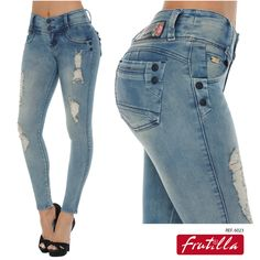 Discover the new collection of FRUTILLA JEANS, the Colombian brand that is revolutionizing fashion with the latest trends in women's jeans. Girls Jeans, Mom Jeans, Skinny Jeans, Ladies Jeans, Cowgirl Jeans, Denim Fashion, Womens Fashion, Blue Jeans, Latest Trends