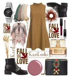"""""""Fall in love with you!"""" by karilooks ❤ liked on Polyvore featuring National Tree Company, Glamorous, Givenchy, Gucci and Barbour"""
