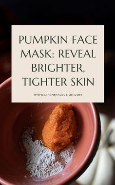If you've never tried a pumpkin face mask, now's your chance with an easy brightening pumpkin face mask recipe you can make at home!