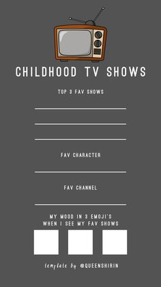 Instagram Story Template Questions: Childhood TV Shows | Free Story Templates for Instagram | #instagram #instagramstories #instagramhighlights #igstories #storytemplate #socialmedia