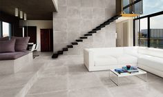 Carrelage aspect pierre Jaipur Grey
