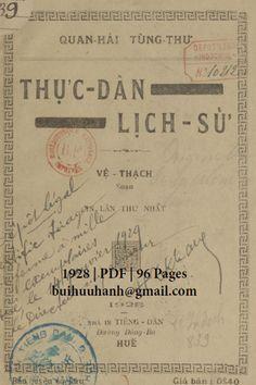 Thực Dân Lịch Sử (NXB Tiếng Dân 1928) - Vệ Thạch, 96 Trang | Sách Việt Nam Bullet Journal, Cover, Books, Libros, Book, Book Illustrations, Libri
