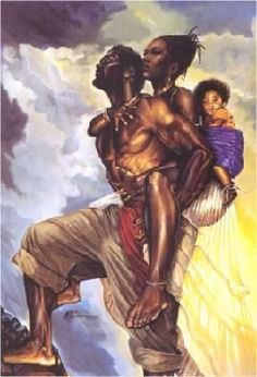 Black Love Art Prints | WAK WE ARE ONE ART PRINT 24 X 32 PRINT