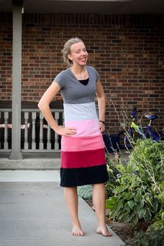 I love this refashioned t-shirt dress featured on Fresh Modesty