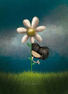 Don't waste your time looking back, you're not going that way Cartoon Drawings, Cute Drawings, Meadow Flowers, Cute Images, Whimsical Art, Cute Illustration, Belle Photo, Cute Cartoon, Cute Art
