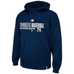 New York Yankees Authentic Collection Team Favorite Hooded Fleece by Majestic Athletic  - MLB.com Shop  I want this sweatshirt
